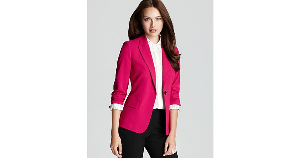 b79de4b9bf8d Vince Camuto One Button Blazer in Pink - Lyst