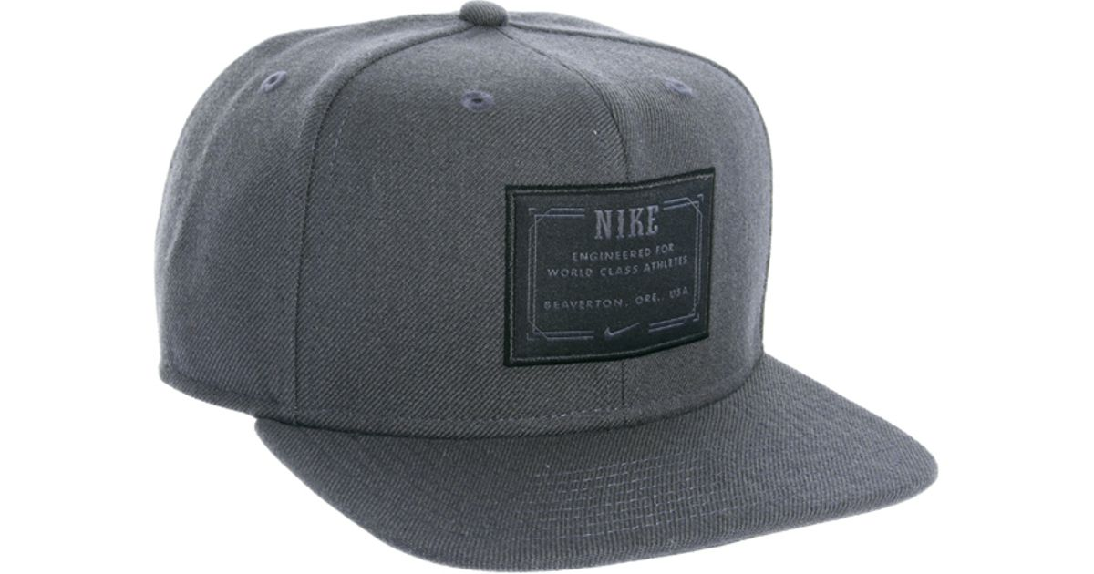 1f23f3dbc41f ... where to buy lyst nike snapback cap in gray for men d8b58 d0d5f