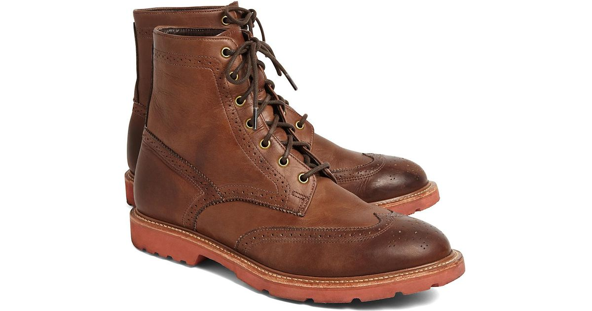 b7fc19c7b34 Lyst - Brooks Brothers Vintage Wingtip Boot in Brown for Men