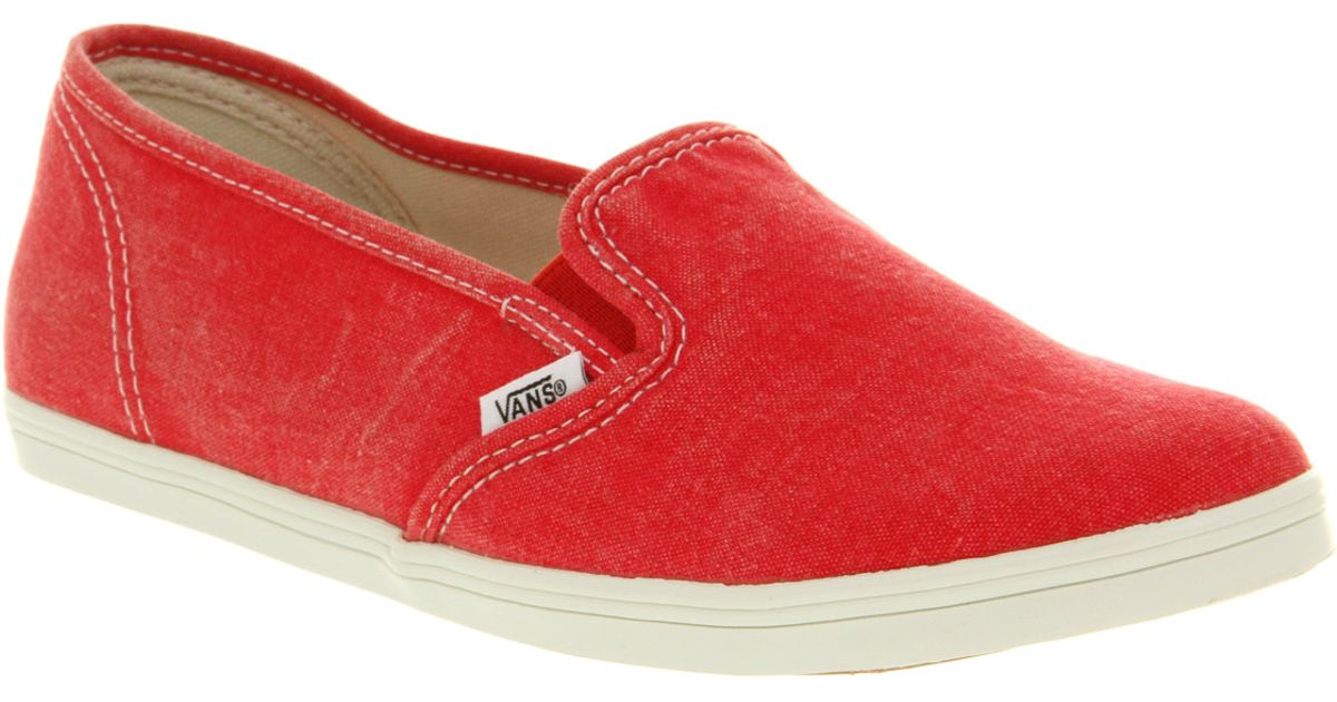 435376c95b09 Lyst - Vans Slip On Lo Pro Washed Red in Red