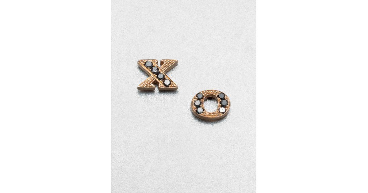 Sydney Evan 14kt rose gold triangle stud earring - Metallic FWfjE4