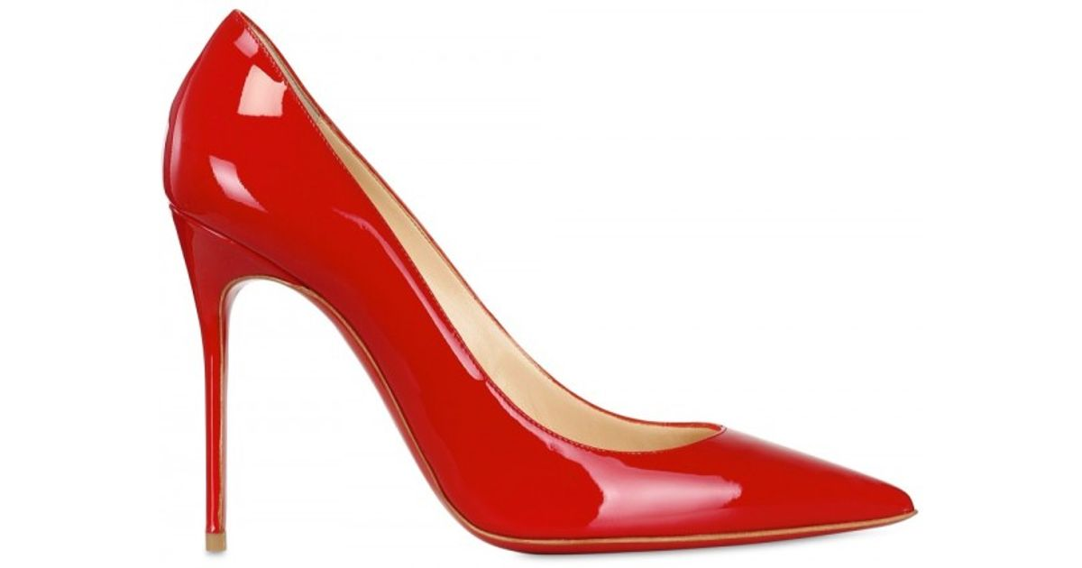 2d87efeb398d Lyst - Christian Louboutin 100mm Decollete 554 Patent Pointy Pumps in Red