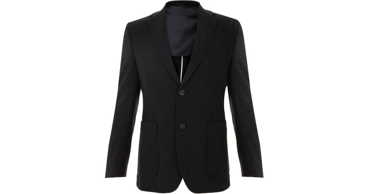 590153240da2 Our Legacy Single Breasted Wool Blazer in Blue for Men - Lyst