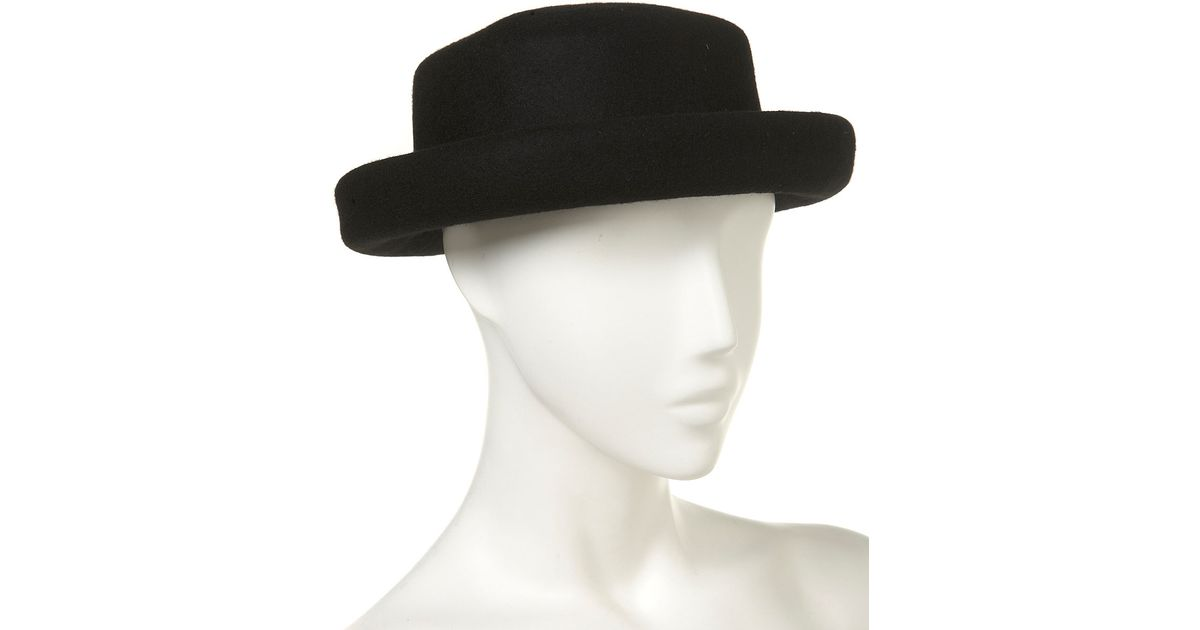 7ae76815e0d ... sale new york mets floppy hat topshop topshop new big felt floppy hat  in black lyst