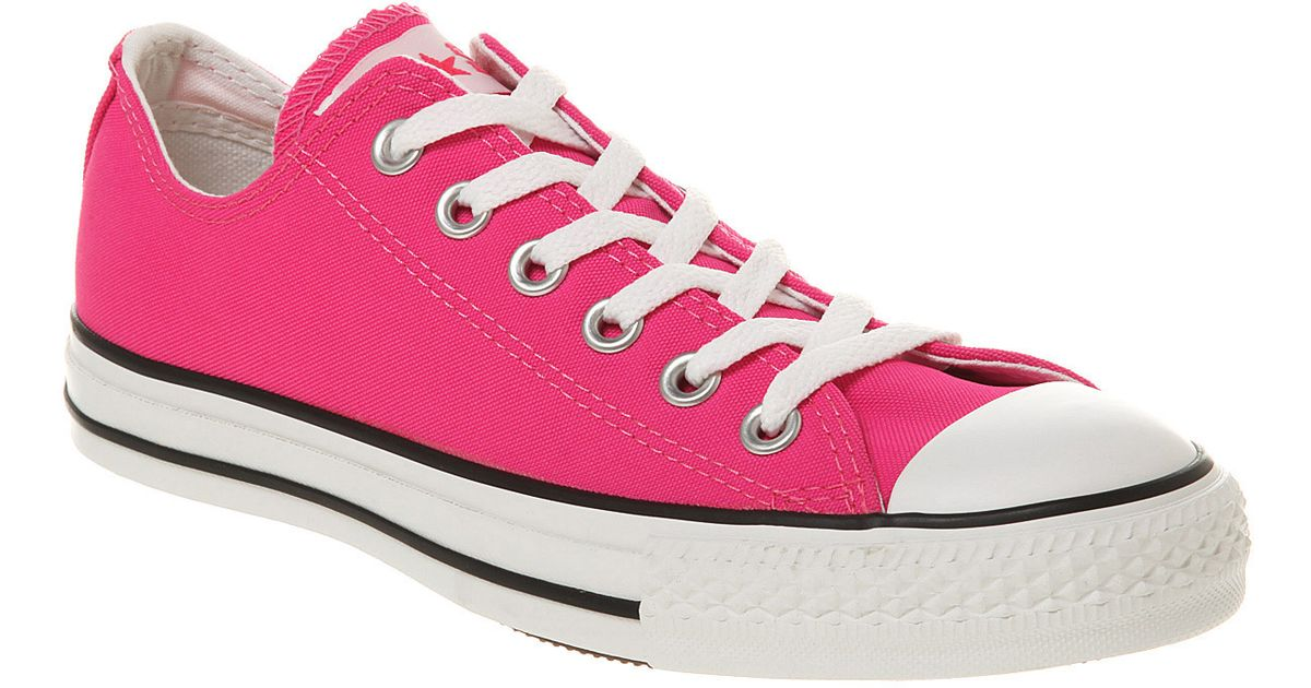 2af2a6f6864d45 Converse Ox Low Neon Pink in Pink for Men - Lyst