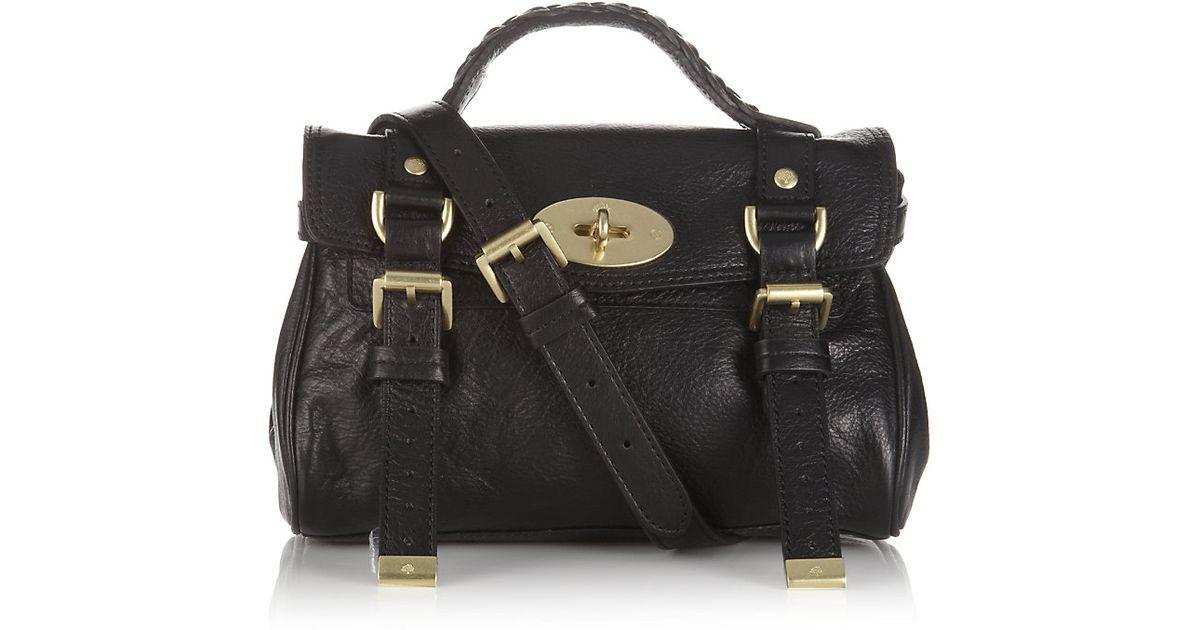 178ebe9fecd3 Mulberry Mini Alexa Crossbody Bag in Black - Lyst