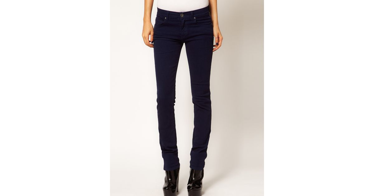 Dr. denim Snap Coloured Skinny Jeans in Blue | Lyst