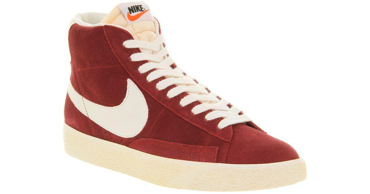 half off ba616 f6e37 Nike Blazer Hi Suede Vintage Team Red in Red for Men - Lyst