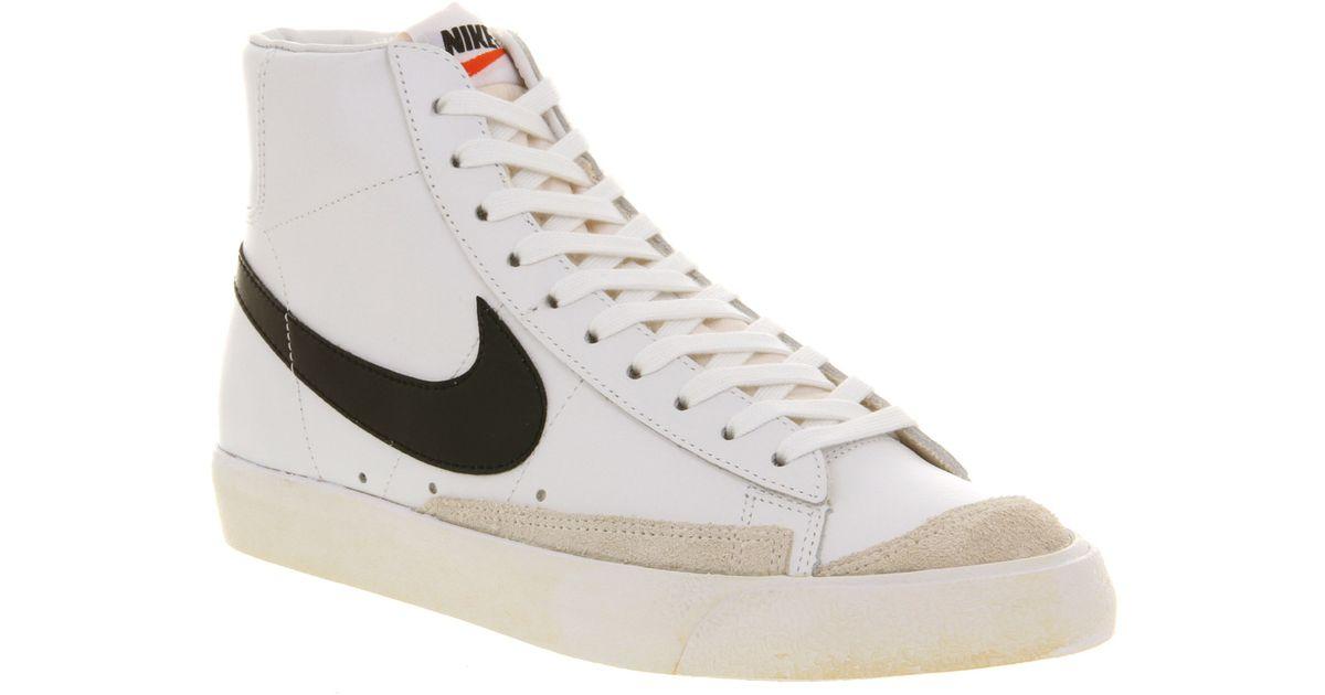 best sneakers 044aa 0e584 Lyst - Nike Blazer Mid 77 White Black Team Orange in White f
