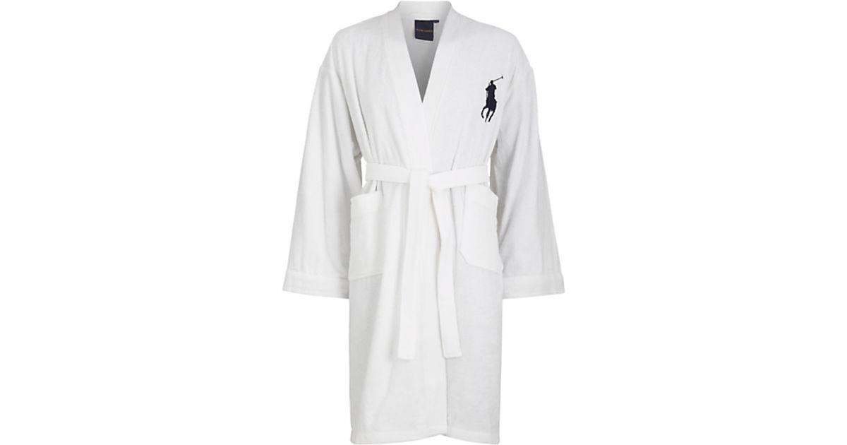 ... cheapest polo ralph lauren polo ralph lauren big play bathrobe white in  white for men lyst 7e76eb738