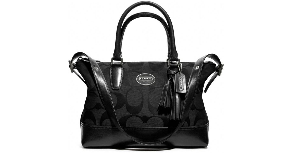 ... closeout lyst coach legacy signature molly satchel in black 79284 37e0d 8ccc3c8cb1791
