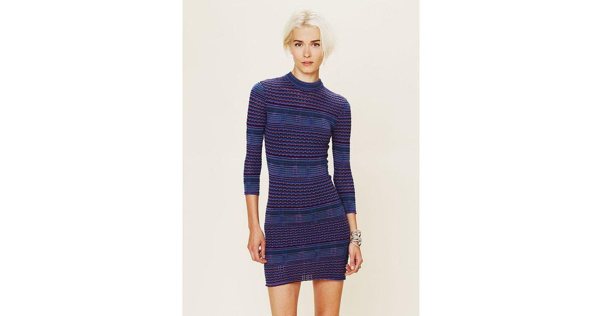 0d5434b5225 Free People Groovy Sweater Knit Dress in Purple - Lyst