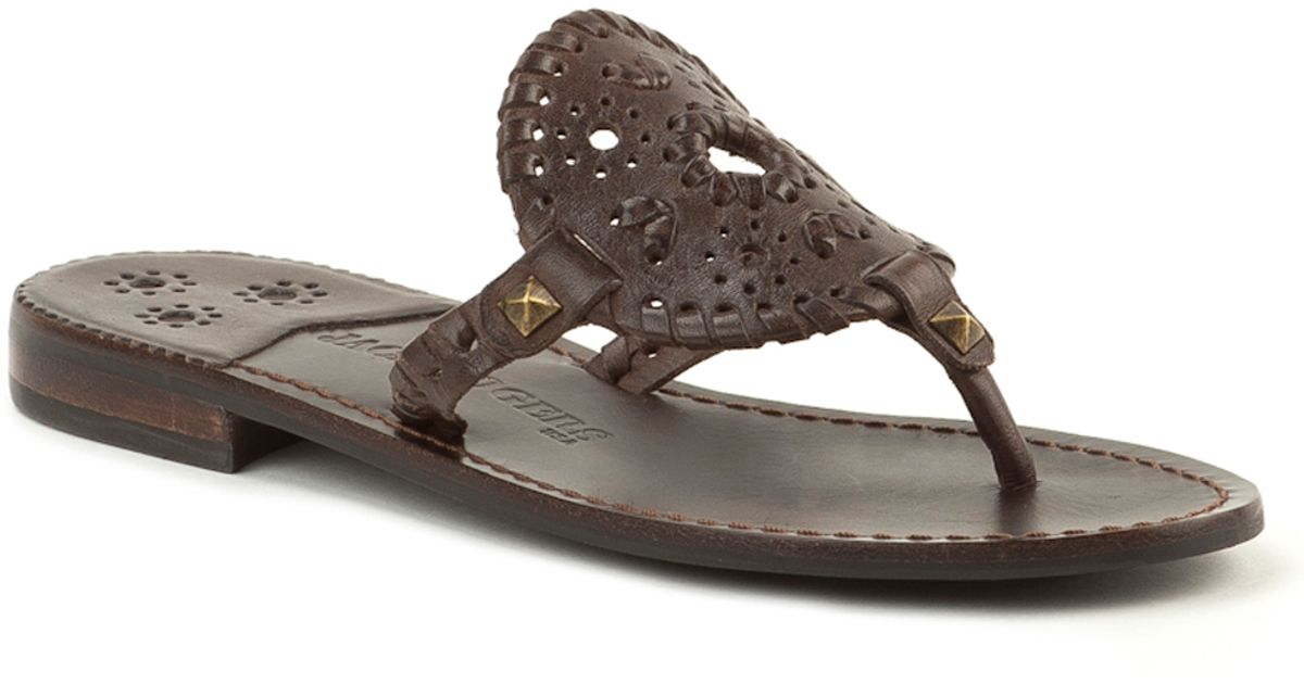 053bffb1a51 Lyst - Jack Rogers Georgica Sandal in Brown