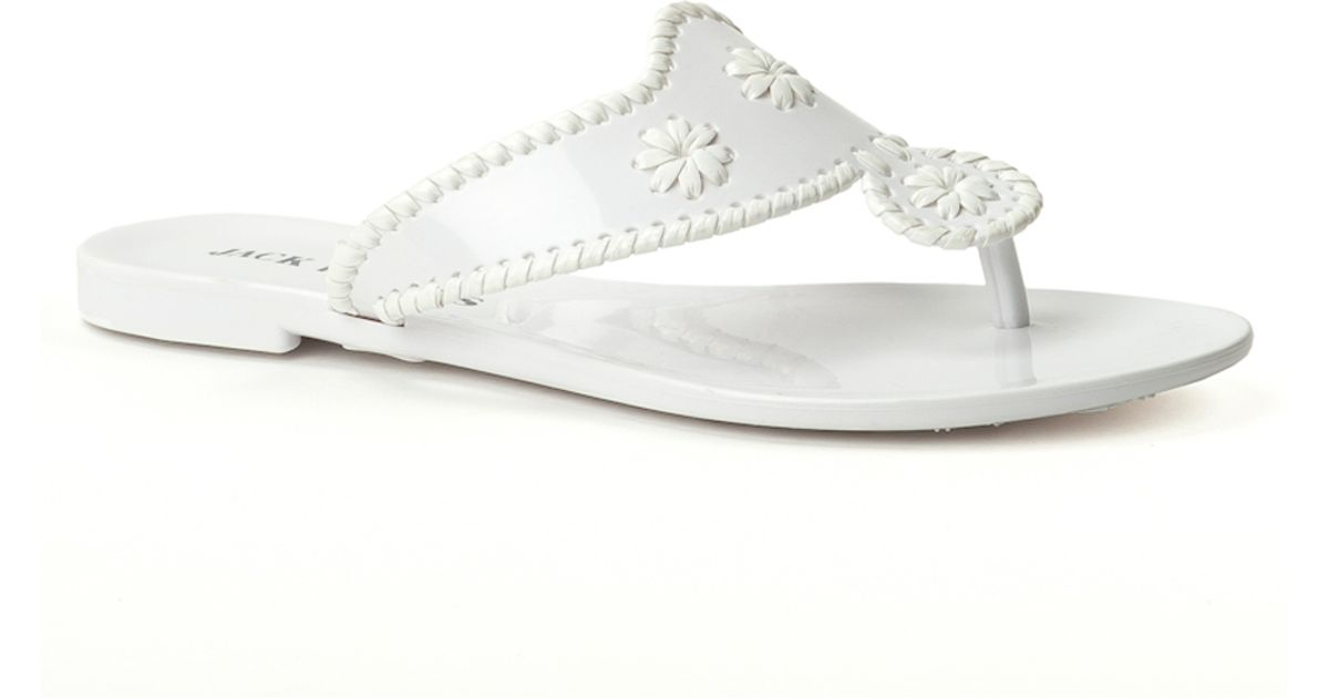 a264c2fe535 Jack Rogers Bahamas Navajo Jelly in White - Lyst