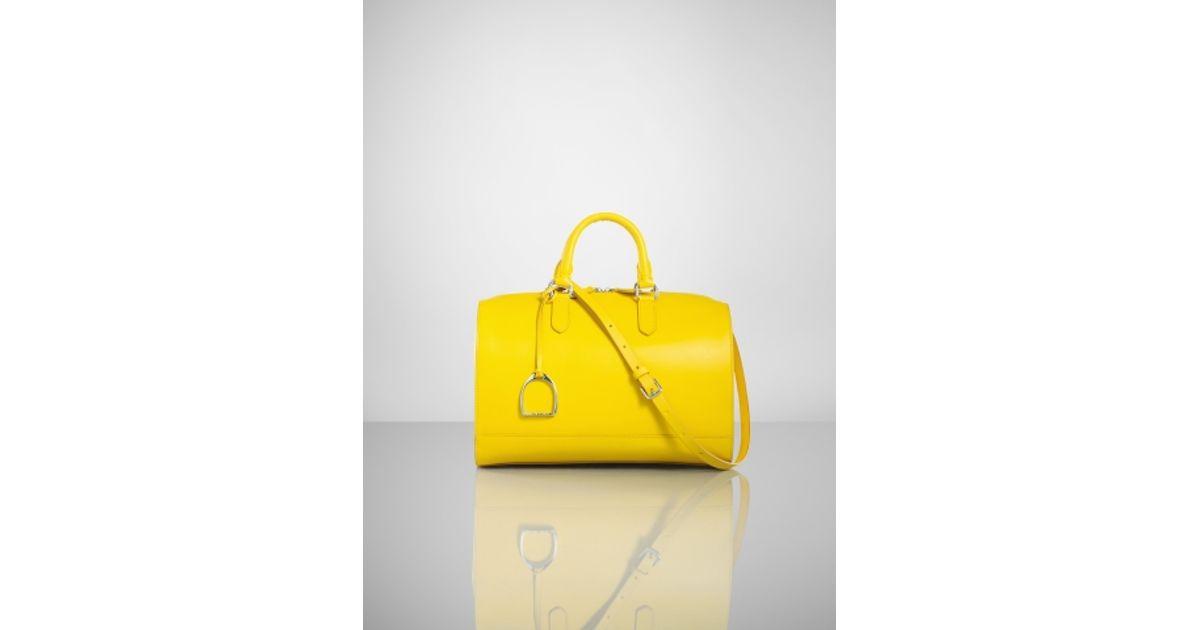 81a7c83d79 Ralph Lauren Vachetta Stirrup Boston Bag in Yellow - Lyst