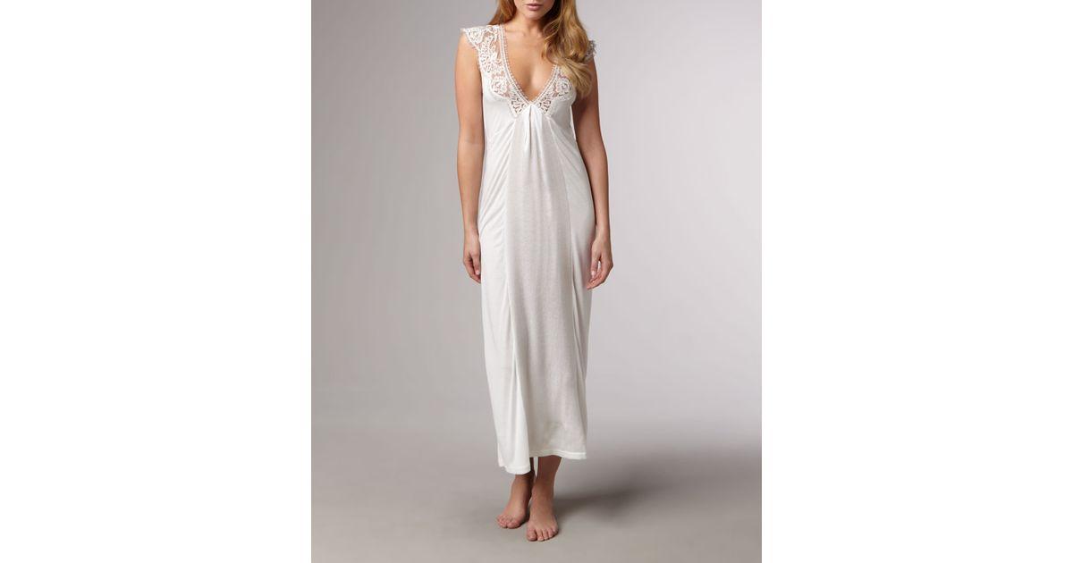 Lyst - La Perla Antinori Long Gown in White