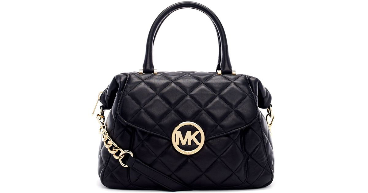 Michael michael kors Large Fulton Quilted Leather Satchel Bag in ...