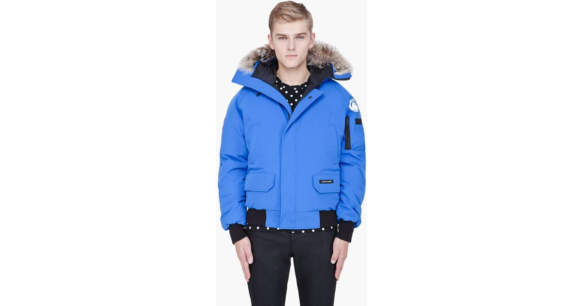 Lyst - Canada Goose Bright Blue Furtrimmed Chilliwack Bomber in Blue for Men