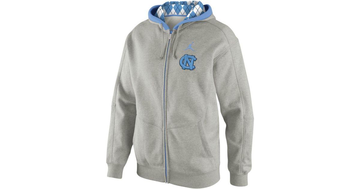 f8dfe23465 Nike - Gray North Carolina Tar Heels Jordan Practice Hoodie for Men - Lyst