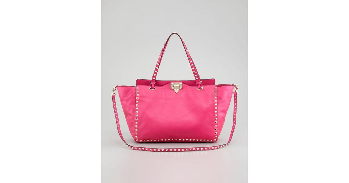 Valentino Pink Rockstud Medium Tote Bag DsT9J