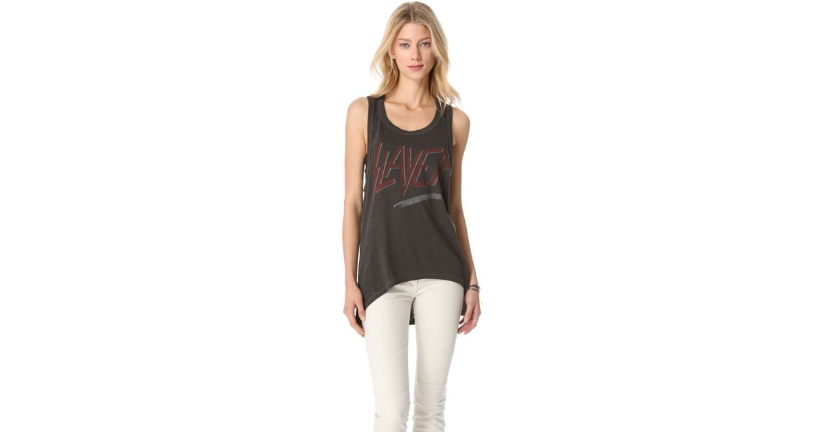 f1e577a61ba24 Lyst - Chaser Slayer Tank Top in Gray