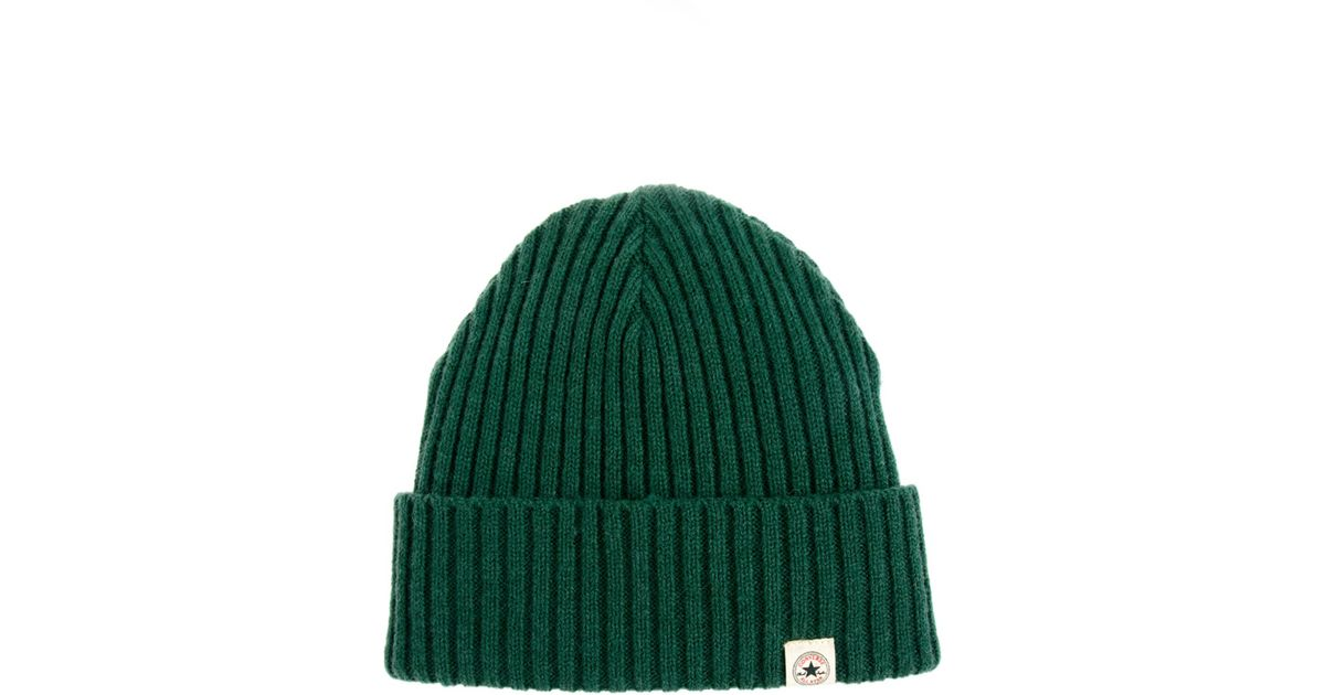 84bee85e61f Lyst - Converse Beanie in Green for Men