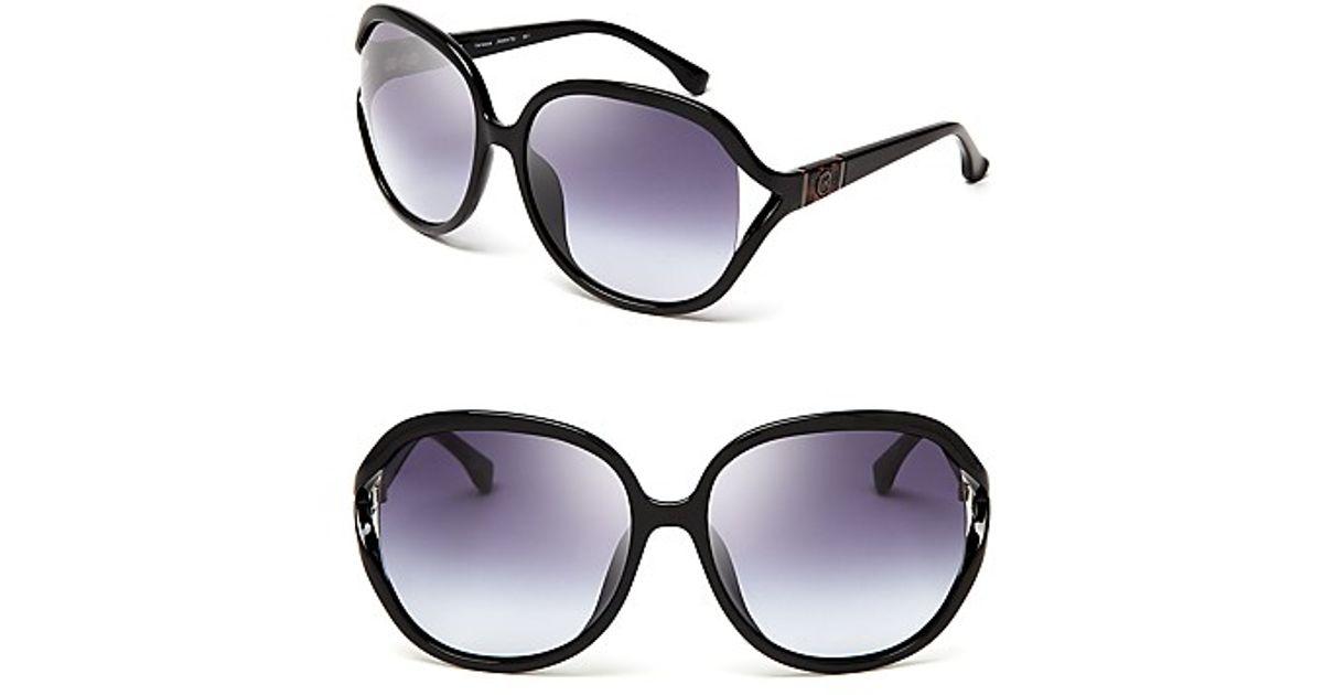 8a8aa8567e05b Lyst - Michael Kors Michael Vanessa Oversized Sunglasses in Black