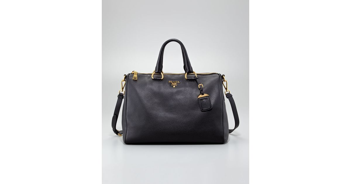 ab9a1fea49d5 Lyst - Prada Daino Medium Zip Tote Bag Nero in Black
