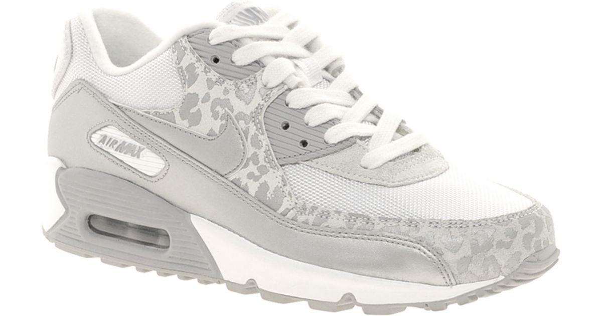 shop nike air max 90 08 silver leopard trainers f62b7 1c5c7