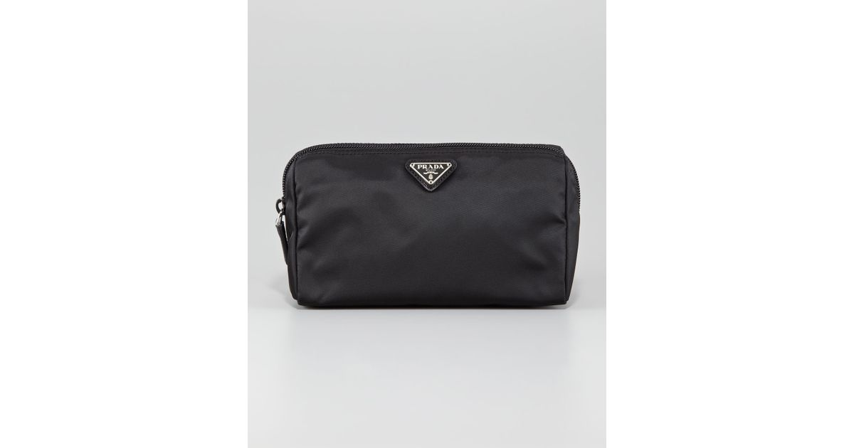 c1c7d82255fc Prada Vela Cosmetic Bag Nero in Black - Lyst