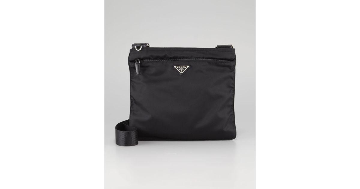 6e8c3842e776 ... sweden lyst prada vela large crossbody messenger bag nero in black for  men d6e87 fccc9