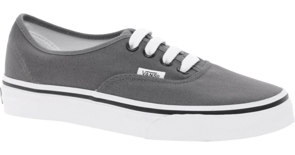 51e07d8d74e Vans - Gray Authentic Classic Grey Lace Up Trainers - Lyst