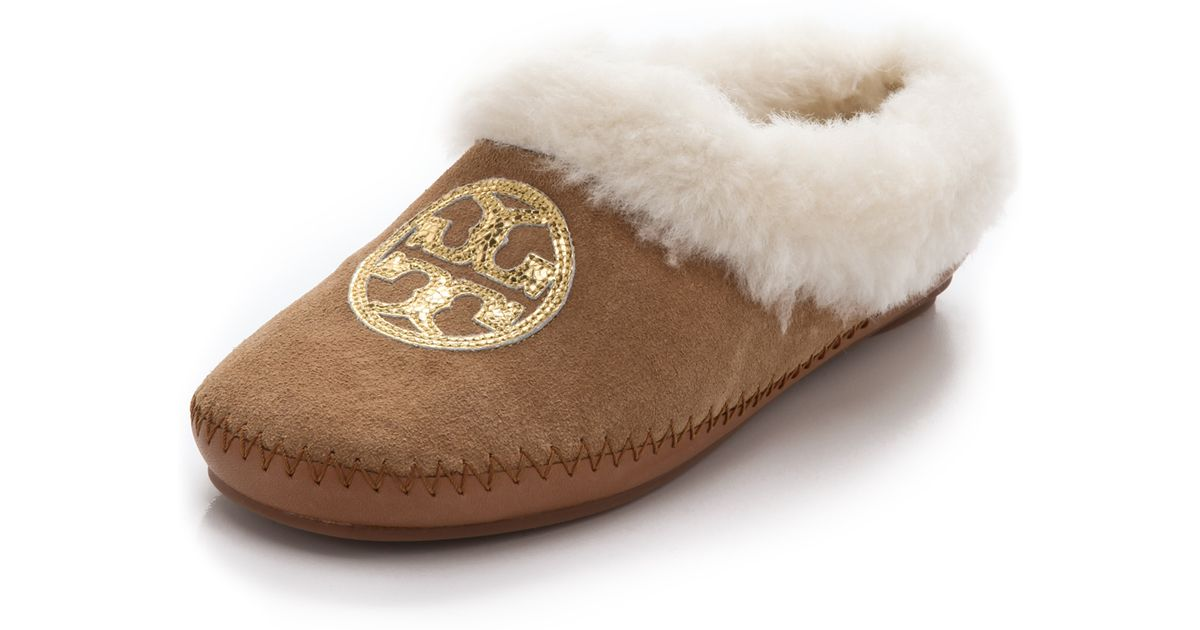 37d548f2f299 Lyst - Tory Burch Coley Slippers in Brown