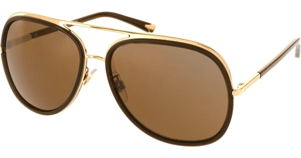 b4535b34b50 amp  Lyst Aviator Dolce In Sunglasses Metallic Gabbana r1wrq5f