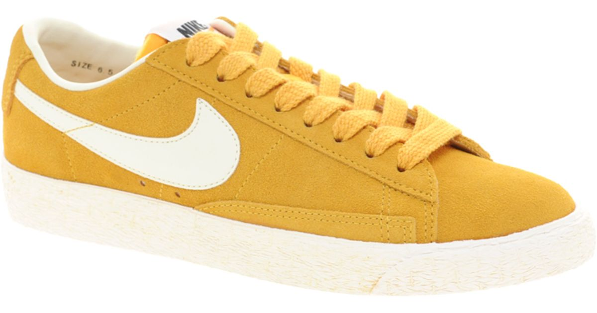 brand new f3d22 87139 ... coupon code for lyst nike blazer low yellow trainers in yellow ae682  e9951