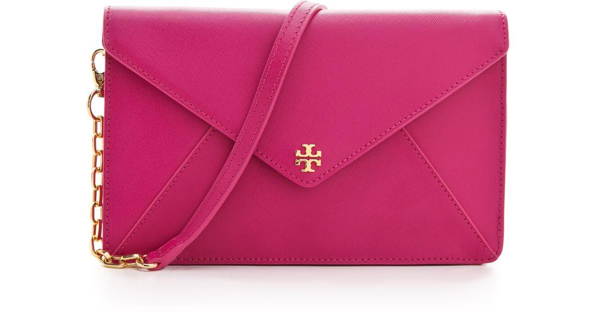 0c4fc50ddaa7 Lyst - Tory Burch Robinson Envelope Clutch in Purple