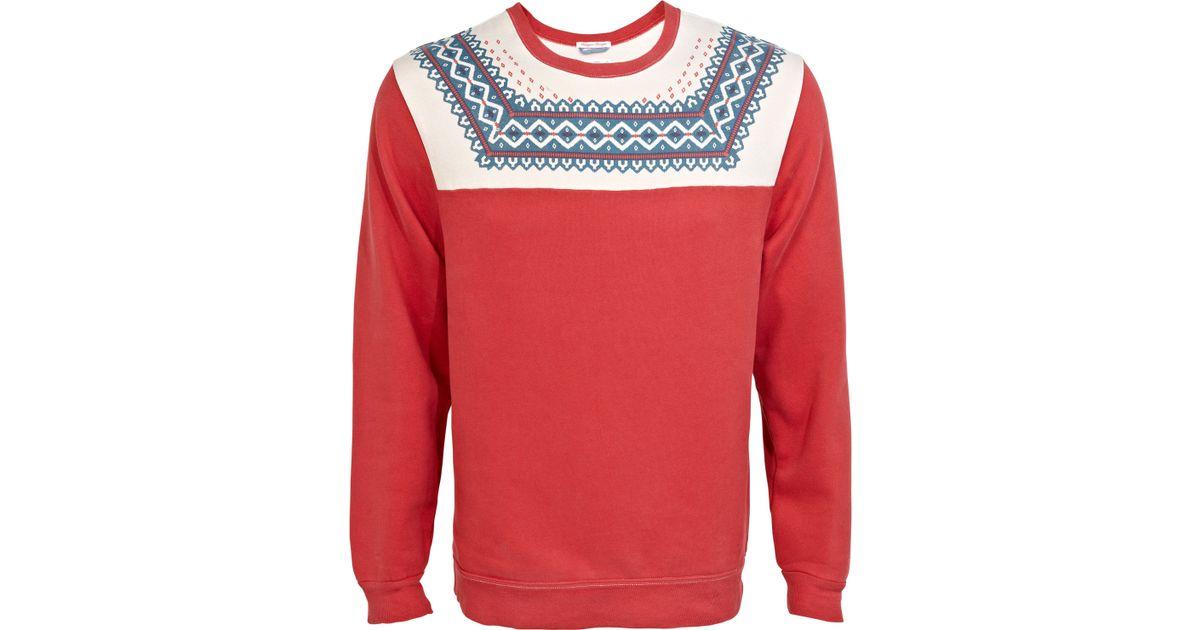 Gant rugger Bloggers Delight Fair Isle Jumper in Red for Men | Lyst