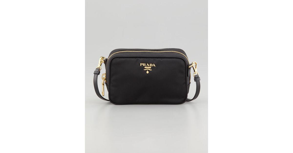 f0ace1b64f Prada Tessuto Small Cross-Body Bag in Black (nero)
