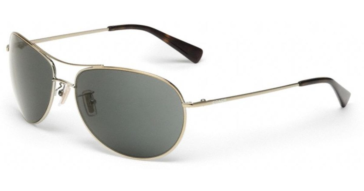 81d0004a01d Lyst - COACH Quinn Sunglasses in Metallic for Men