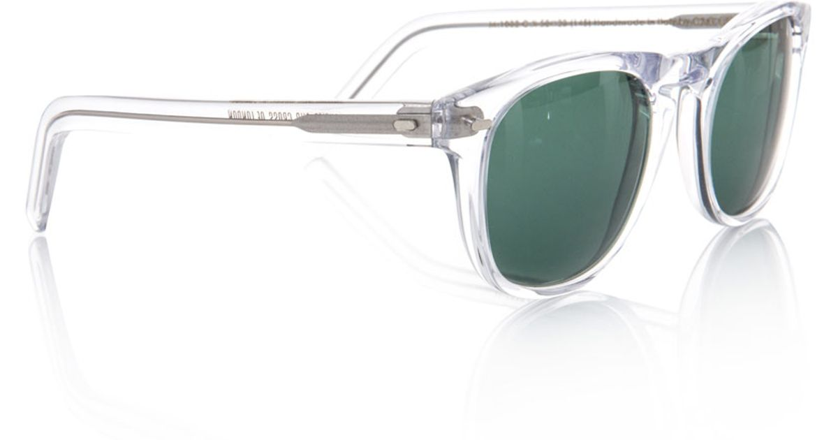 Lyst - Cutler & Gross Transparent Frame Sunglasses in Green for Men