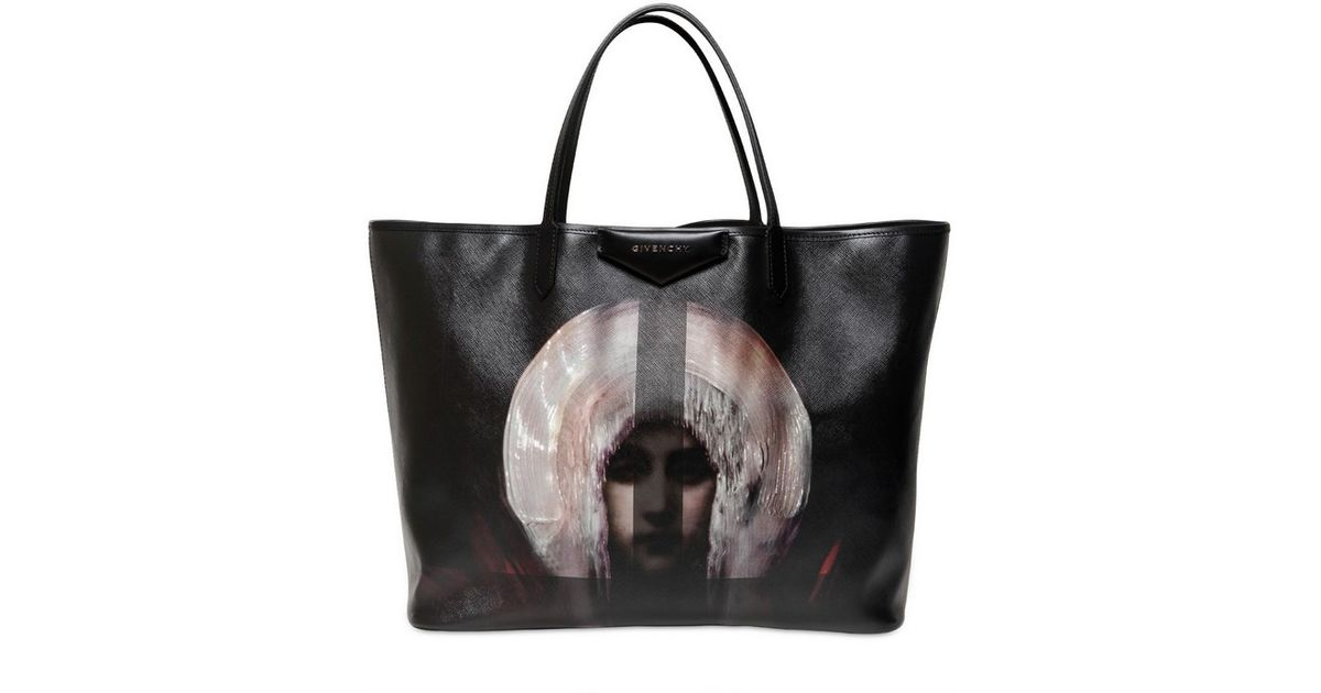 Lyst - Givenchy Madonna Print Pvc Coated Large Tote in Black 4412004b683af