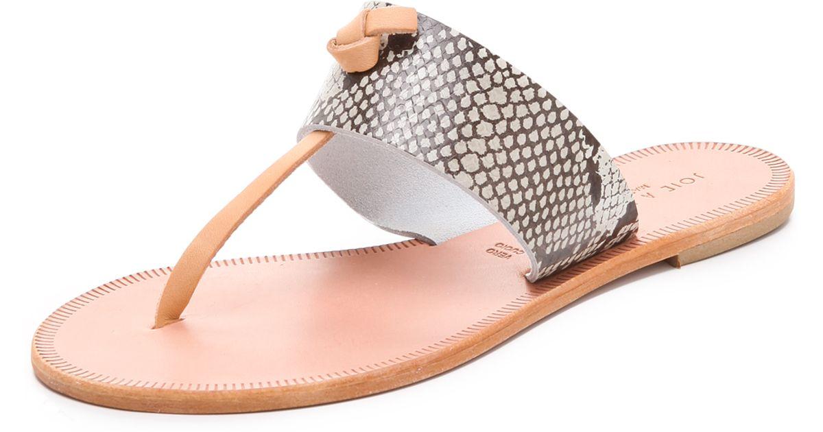 950276d0795af4 Lyst - Joie A La Plage Nice Python Sandals in White
