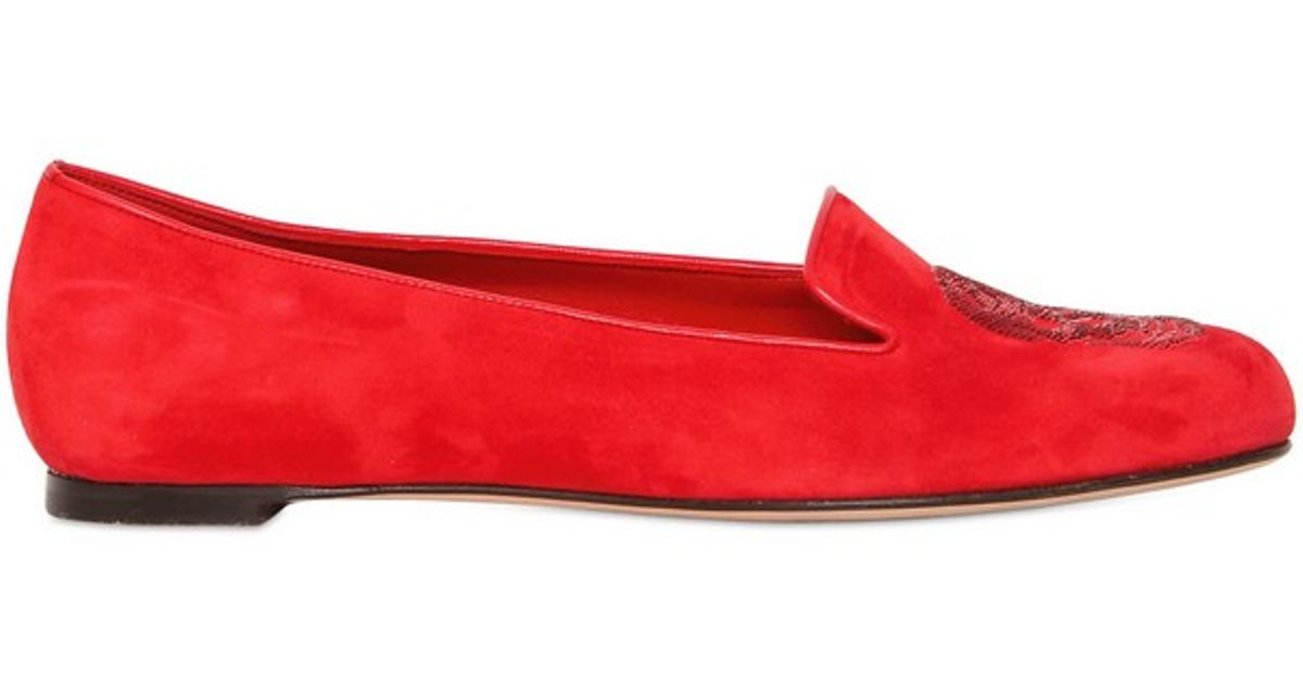 Skull loafers - Red Alexander McQueen anW6y