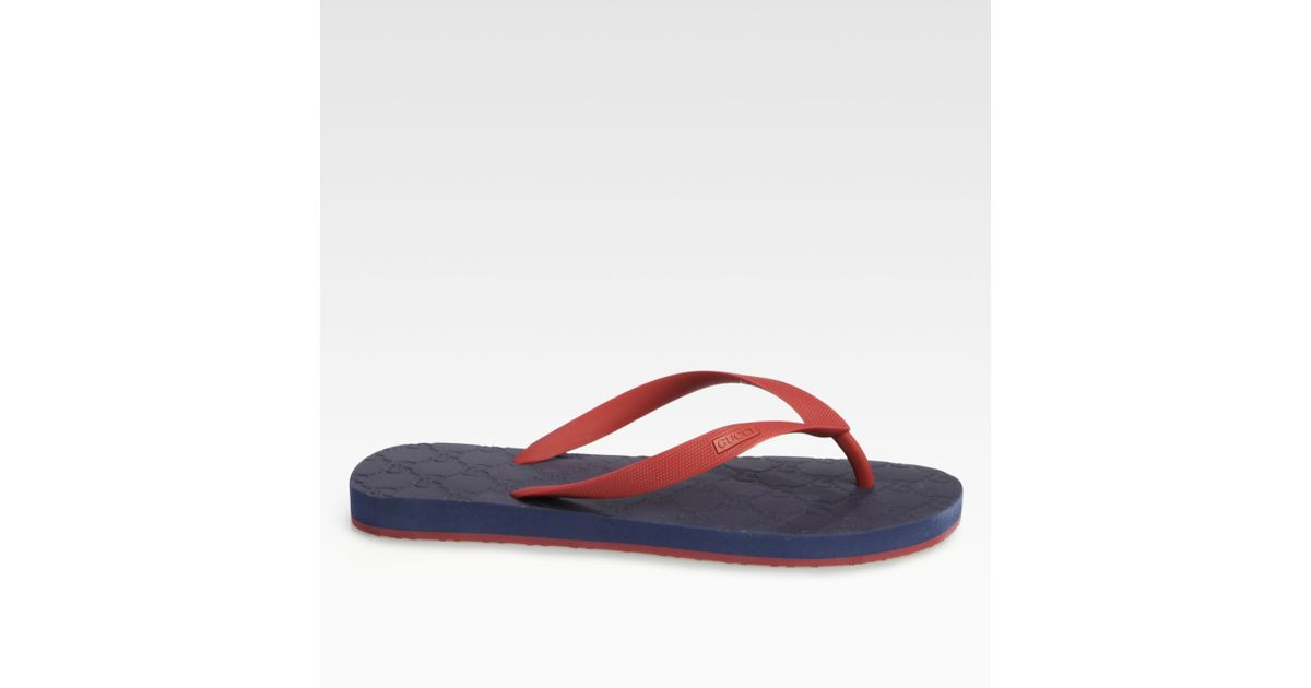 88d1e2b3e0a Lyst - Gucci Bedlam Logo Thong Sandal in Blue for Men