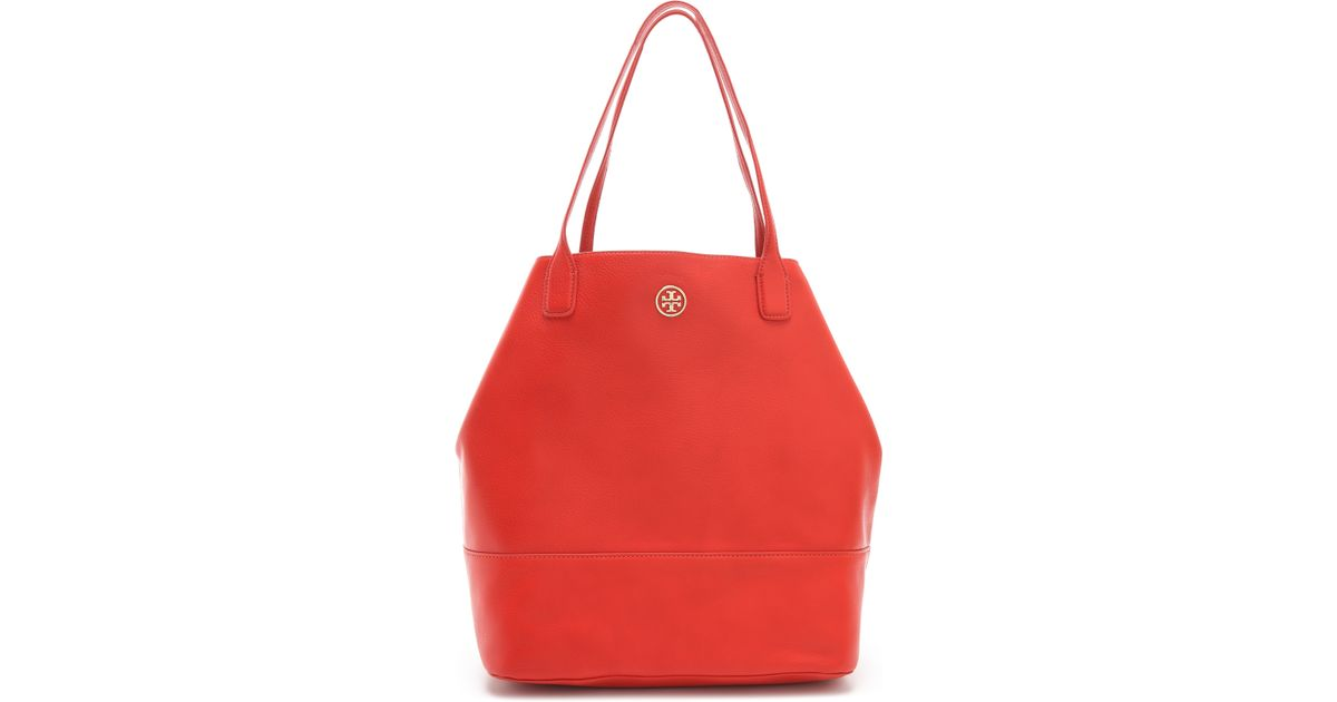 a306fb39a5a Lyst - Tory Burch Michelle Angelux Tote in Red