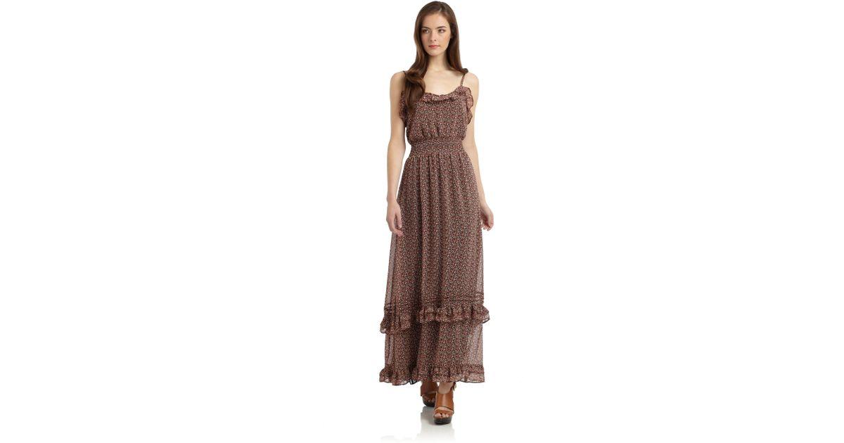 e4bd0d97d Pjk Patterson J. Kincaid St Tropez Maxi Dress in Brown - Lyst