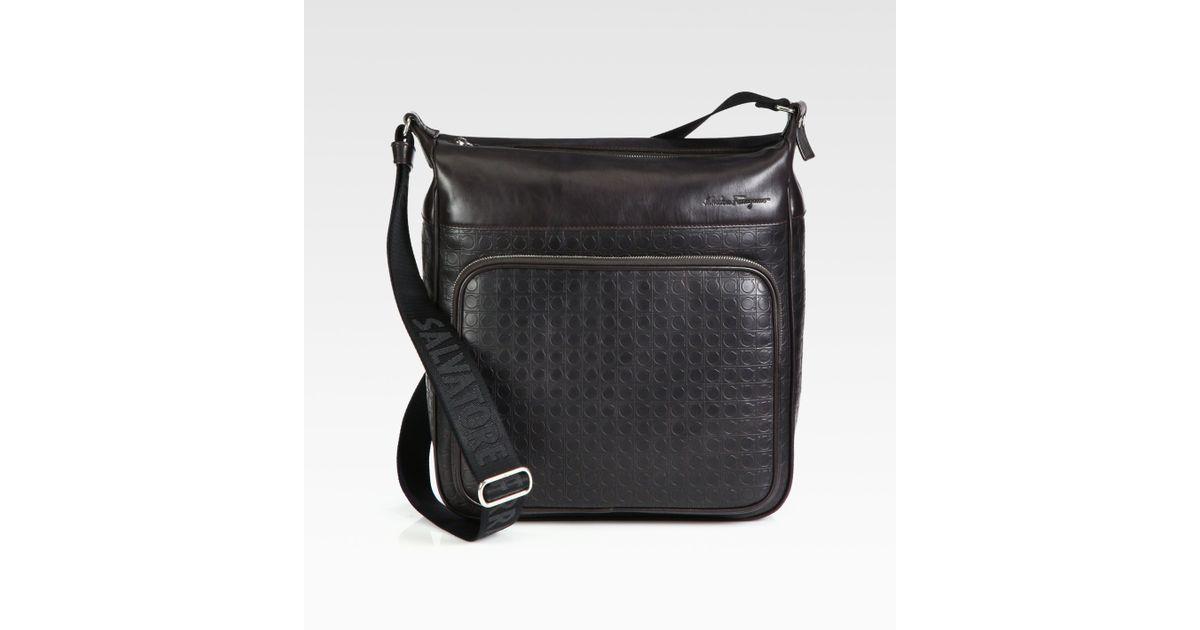 d3871a6010 Lyst - Ferragamo Gamma Soft Shoulder Bag in Brown for Men