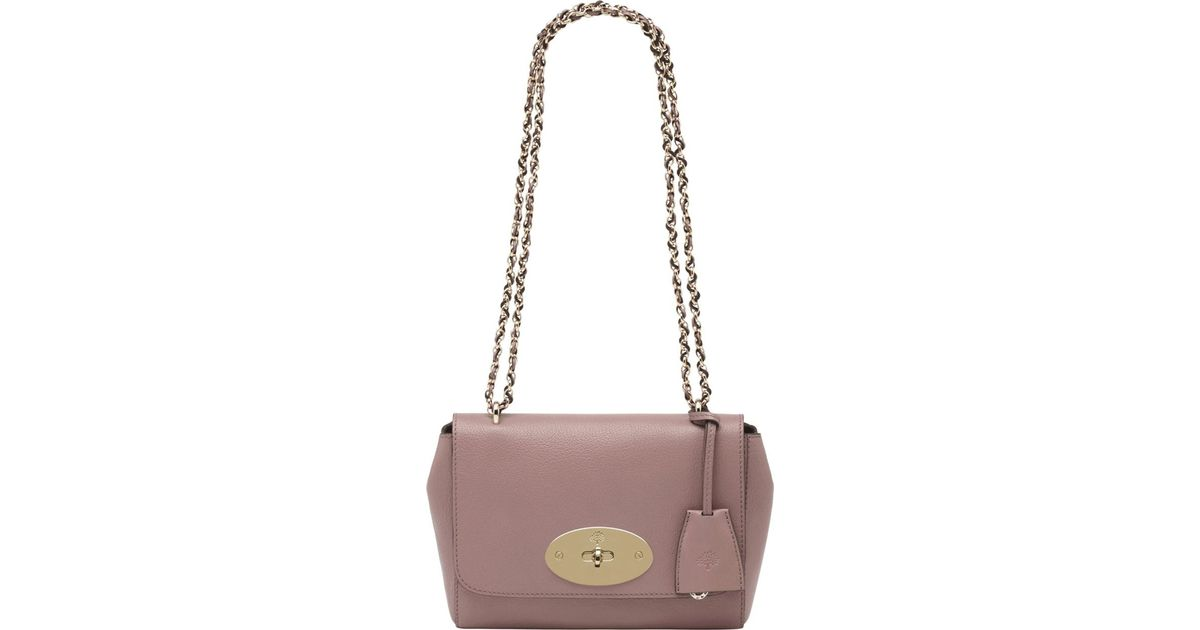 38d9f558c2f6 Mulberry Lily Glossy Goat Leather Shoulder Bag in Pink - Lyst