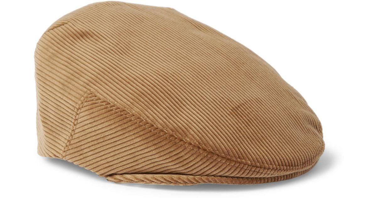 Lyst - Lock   Co. Corduroy Flat Cap in Brown for Men 2756cbe6915