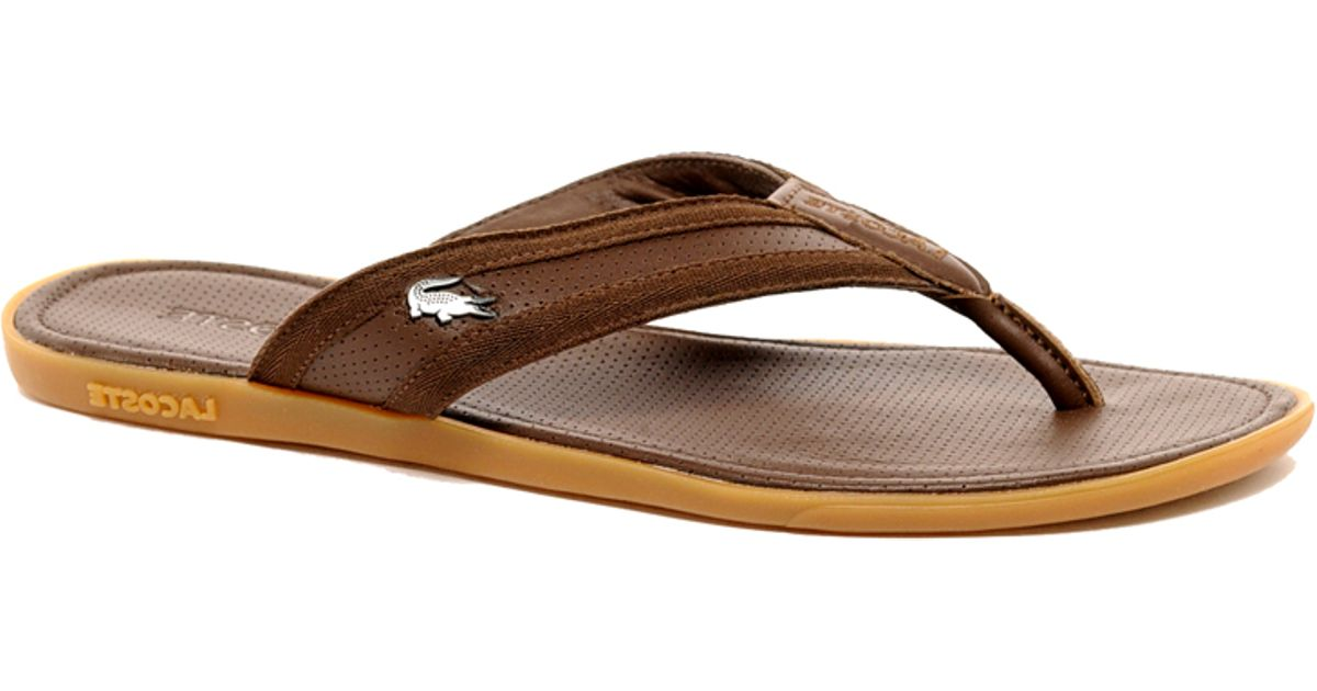 911570c69741 Lyst - Lacoste Carros Leather Sandals in Brown for Men
